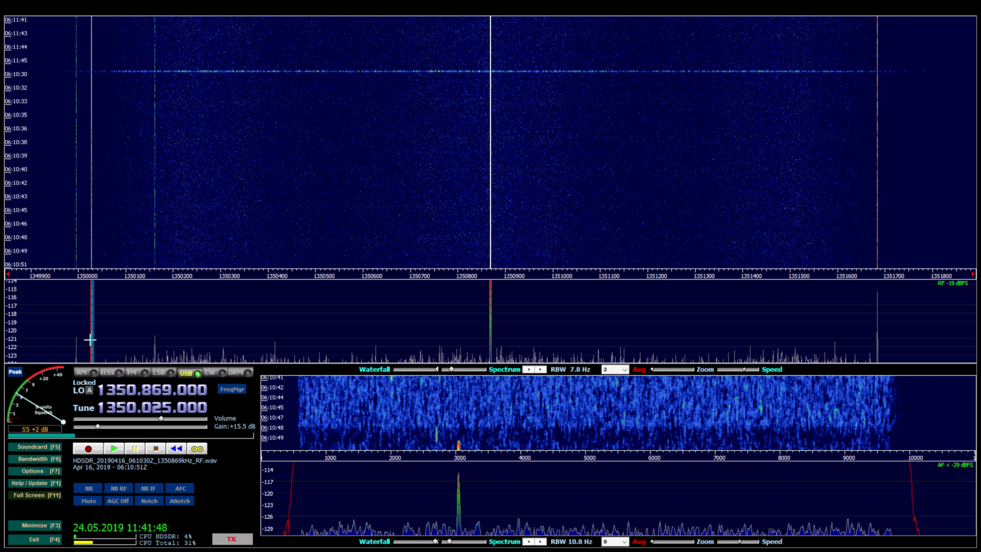 HDSDR - a freeware Software Defined Radio (SDR) program